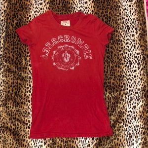 Vintage red white Abercrombie & Fitch XS T-shirt